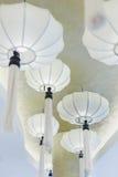 White Chinese paper lanterns Royalty Free Stock Photo