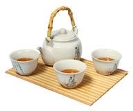 White Chinese tea set Royalty Free Stock Image
