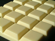 White Chocolat. E Bar stock photo
