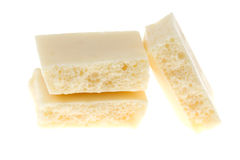 White chocolate Stock Images