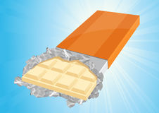 White chocolate. Illustration, AI file included vector illustration
