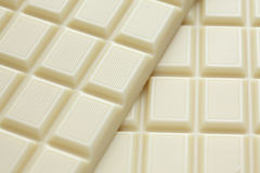 White chocolate. Background. Close-up Stock Photo