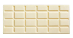 White chocolate bar isolated on white Royalty Free Stock Photos