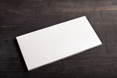 White chocolate bar package mockup Royalty Free Stock Photo