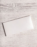 White chocolate bar package mockup Royalty Free Stock Photos