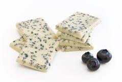 White chocolate with berries Stock Photo