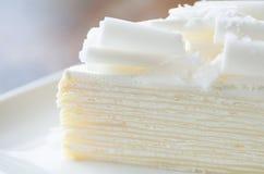 White chocolate cake with caramel Royalty Free Stock Image