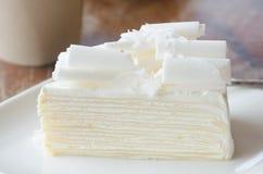 White chocolate cake Stock Photos