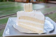 White chocolate cake Stock Images