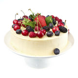 White chocolate cake with fresh berries Stock Photo