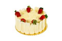 White chocolate cake Stock Photo