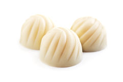 White Chocolate Candy Stock Photography