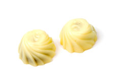 White chocolate candy isolated over the white Royalty Free Stock Photo