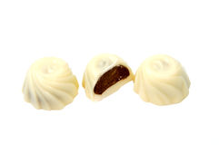 White chocolate candy isolated over the white Stock Photography