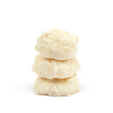 White chocolate candy isolated Royalty Free Stock Images