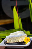 White chocolate cheese cake Stock Photo