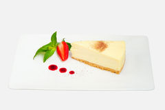 White chocolate cheesecake Royalty Free Stock Image