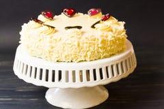 White Chocolate Cheesecake Stock Images