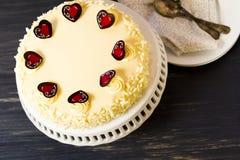 White Chocolate Cheesecake Stock Photography