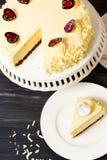 White Chocolate Cheesecake Royalty Free Stock Photography