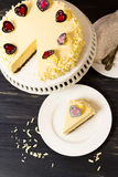 White Chocolate Cheesecake Royalty Free Stock Photography
