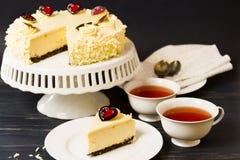 White Chocolate Cheesecake Stock Photo