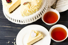 White Chocolate Cheesecake Royalty Free Stock Images