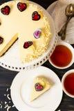 White Chocolate Cheesecake Royalty Free Stock Image