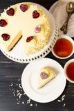 White Chocolate Cheesecake Stock Photos