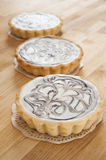 White Chocolate Cheesecake Tarts Royalty Free Stock Images