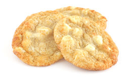 White chocolate chip cookies Stock Image