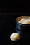 White chocolate and coconut truffles Stock Photo