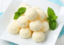 White Chocolate and Coconut Truffles Stock Image