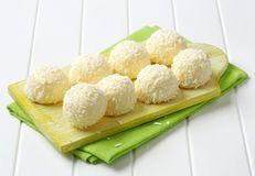 White Chocolate and Coconut Truffles Royalty Free Stock Photo