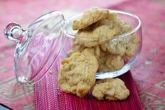 White chocolate cookies Royalty Free Stock Photo