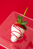 White chocolate covered strawberry Royalty Free Stock Photography