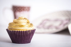 White Chocolate Cupcake Royalty Free Stock Photos