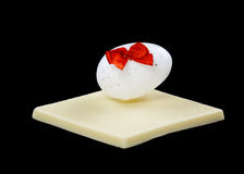 White chocolate and Easter egg Royalty Free Stock Image