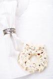 White chocolate festive christmas wreath Royalty Free Stock Image