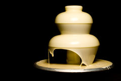 White Chocolate Fountain Stock Image