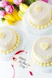 White chocolate honey lavender cake Stock Photo
