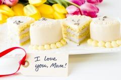 White chocolate honey lavender cake Royalty Free Stock Image