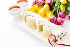 White chocolate honey lavender cake Royalty Free Stock Images
