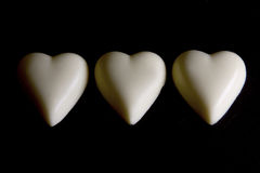 White Chocolate Love Heart Royalty Free Stock Images