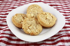 White Chocolate Macadamia Nut Cookies Stock Photo