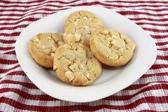 White Chocolate Macadamia Nut Cookies Stock Photo