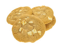 White chocolate macadamia nut cookies Royalty Free Stock Photo