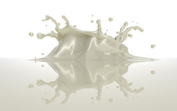 White chocolate or milk splash with a crown Stock Images