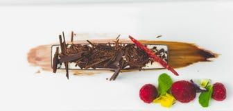White chocolate mousse Stock Photo
