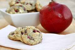White Chocolate Pomegranate Cookies Royalty Free Stock Photo